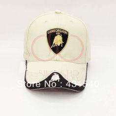 29653f121a4 F1 Lamborghini logo cotton sports car racing hat baseball caps sun visor  cotton caps 4 colors C58  9.99