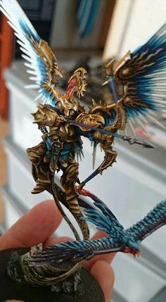 Thousand Son paint scheme Warhammer 40k Figures, Warhammer Paint, Warhammer 40k Art, Warhammer Models, Warhammer Fantasy, Stormcast Eternals, Age Of Sigmar, Fantasy Miniatures, Miniture Things