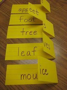 Lenguaje..en este ejemplo juegan con el singular y plural en inglés...¿y si jugamos con las sílabas en español?