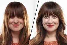 @Katy Crater Amoyen is this how you cut your own bangs?!     How to Trim Bangs at Home Without Screwing Up - The Cut Good Hair Day, Great Hair, Zooey Deschanel Hair, Trim Bangs, Bangs Tutorial, Thin Hair Cuts, Thick Hair, How To Cut Bangs, How To Cut Fringe