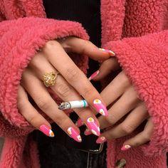 How to choose your fake nails? - My Nails Aycrlic Nails, Cute Nails, Pretty Nails, Hair And Nails, Nail Swag, Milky Nails, Nailart, Pin On, Best Acrylic Nails