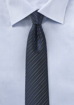 Krawatte schlank Linien-Struktur nachtblau