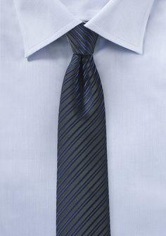 Midnight Blue Skinny Tie - $10