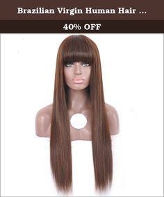 Brazilian Virgin Human Hair Silky Straight Glueless Full Lace Wig For Black Women Long Human Hair Lace Front Wig with Bangs 180 Density (18inch lace front wig). 1. Professional Custom Made: Hair Dying/Perm/Styling. 1) Color and Texture Customized (1 Day Only). 2) Free Pre-cut Service. 2. Picture Confirm Before Shipping (Order can be canceled). 3. Delivery Time:3-7 Days. 4 .Shipping on Road:2-3 Days (By DHL or Fedx Only). 5. After Sales Service: 1) Return & Refund:7 Days Non-reason Return…