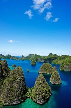 Raja Ampat in Papua, Indonesia - 4 major islands found here are Waigeo, Misool (home to ancient rock paintings), Salawati & Batanta.  Scuba diving.