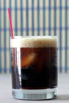 Long Black Russian cocktail drink recipe with Kahlua, vodka and cola.