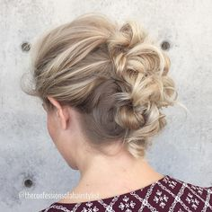 Messy+Half+Mohawk+Updo- knotted Mohawk