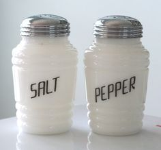 Salt pepper shakers, Depression and Windsor on Pinterest