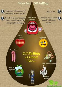 Oil pulling-word of caution, may not want to do with metal fillings... These oils are changing my family's lives.