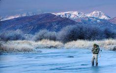 Rocky Mountain winter trout fishing
