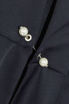 Mother of Pearl - Chester Embellished Jersey Shirt - Navy - UK