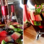 Watermelon Sangria | The Pioneer Woman Cooks | Ree Drummond Watermelon Wine, Watermelon Alcoholic Drinks, Watermelon Margarita, Pioneer Woman Recipes, Drink Me, Food And Drink, Party Drinks, Cocktail Drinks, Fun Drinks
