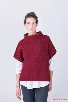 . Пуловер-безрукавка спицами - Вязание - Страна Мам