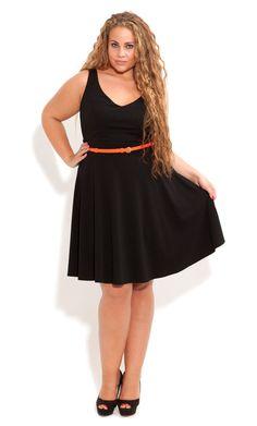 3b426d883b0 City Chic - Deep V Skater Dress - Women s plus size fashion Plus Size Model