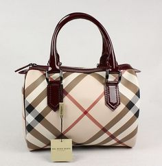 Burberry; I hate over-priced handbags...except this one. I want THIS one....