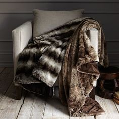 Faux-Fur Throw - Ombre #WestElm