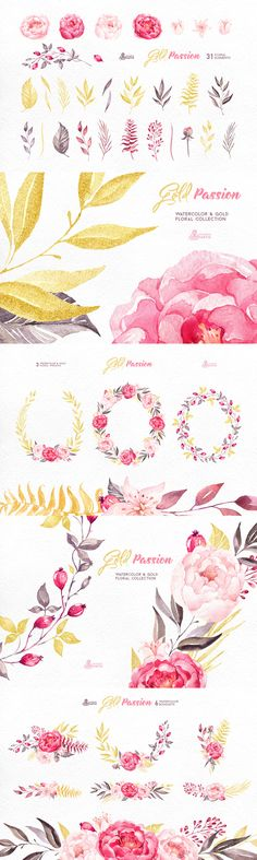 Gold Passion - Floral Collection  -   https://www.designcuts.com/product/gold-passion-floral-collection/
