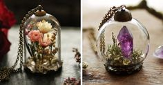 Kay Bells lets you take a little bit of magic with you wherever you go. The Cork, Ireland based maker handcrafts tiny terrariums using a range of strange and beautiful curiosities, found in the woods and on the mountain sides, combed from the windswept beaches and picked in the wild meadows. But that's not all--Bells also does custom pieces, if you're willing to send her your precious memories.