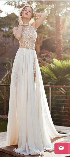 Read More About White Lace Chiffon High Neck Bodice Wedding Dress See Through Front Split Wedding Dresses, Custom Made Wedding Gown, A Line Bridal Dress, Long Lace Sexy Prom Dress. Stunning Wedding Dresses, 2015 Wedding Dresses, Wedding Gowns, Lace Wedding, Wedding Reception, Trendy Wedding, Bridal Gowns, Outdoor Wedding Dress, Wedding Beach