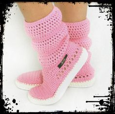 Items similar to Crochet Boots Crochet Knitted Shoes adult Outdoor Boots for the Street Folk Tribal Boho s hippie Made to Order pattern crochet cuffs on Etsy Knit Shoes, Crochet Shoes, Crochet Slippers, Crochet Clothes, Crochet Boots Pattern, Hand Crochet, Crochet Patterns, Fuzzy Boots, Spring Boots