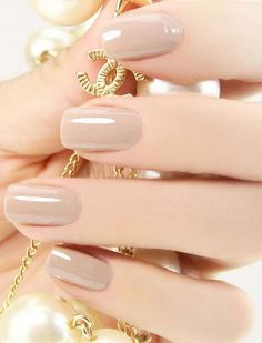 Nude pink nail polish translucent jelly texture