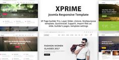 Joomla multipurpose theme, with over 70 pages demo