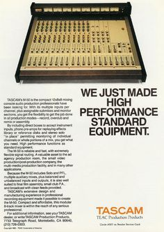 Tascam M-512 12 x 8 mixer from 1983, part of the M-50 series was available in 12 or 20 inputs.