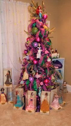 If I only had a girl!    Disney Princess Christmas Tree! #DisneyPrincessWMT