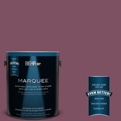 BEHR MARQUEE 1-gal. #PPU1-19 Classic Berry Satin Enamel Exterior Paint