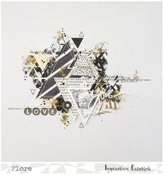 Défi de Septembre chez Inspiration Création. - Le blog Scrapbooking de Flore