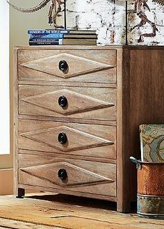 Boasting four stylish drawers, the Alyce Chest will help you store and organize your household essentials while adding character to your home.