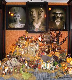 56 Halloween Display / - Department 56 Halloween Village display from Christmas Traditions Halloween Village Display / Dept. 56 Halloween Display / - Department 56 Halloween Village display from Christmas Traditions Whimsical Halloween, Halloween Prints, Halloween Town, Holidays Halloween, Happy Halloween, Halloween Village Display, Diy Halloween Decorations, Halloween Themes, Halloween Goodies