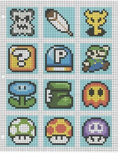 Mario Brüder 3 Mario brothers 3 The post Mario brothers 3 appeared first on Embroidery and Stitching. Pixel Art Photo, Image Pixel Art, Crochet Pixel, Crochet Chart, Mario Crochet, Perler Bead Mario, Perler Beads, Cross Stitching, Cross Stitch Embroidery