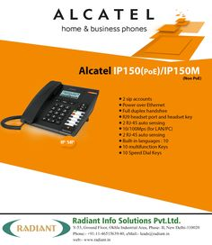 Professional Alcatel Phones in India - Alcatel Temporis IP150 PoE. #AlcatelIphones #Professional #Alcatel #Temporis #PoE #IPphone #IPphonesIndia #Voip #BusinessPhone #Radiant #Business #IpPhoneSystems