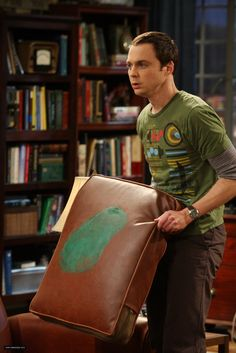 Sheldon and his paint stained cushion