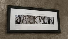 Alphabet Letters Photography - FRAMED, Personalized Name Print, Wedding Gift Idea, Framed Name Print. $69.95, via Etsy.