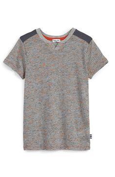 Splendid Textured Split Neck T-Shirt (Toddler Boys & Little Boys) available at #Nordstrom