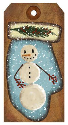 snowman hang tag