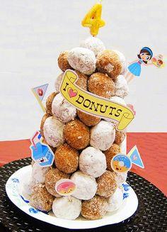 donut hole cake...I <3 donuts, @Molly Simon Walsh