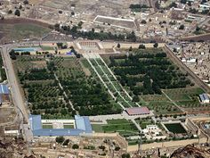 The Gardens of Babur, historic park in Kabul, Afghanistan. Last resting-place of the first Mughal emperor Babur. Thought to have been developed around 1528 AD.