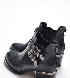 Buckle Ankle Bootie - Black