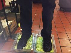 When an anonymous Burger King employee posted pictures of himself stepping in bin of lettuce on offended fast-food lovers took a mere 15 minutes to expose him. Fast Food Workers, Burger King, Food Fails, Fast Food Places, Number 15, Getting Fired, Public Relations, Lettuce, Health