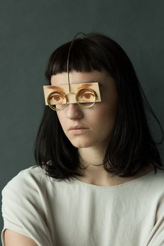 Akiko Shinzato Piece: Putting on Someone's Identity, 2015 Brass, laser engraved leather, reflective plastic