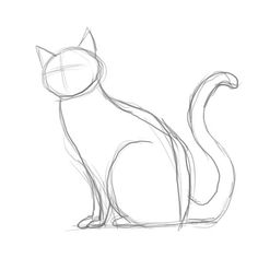 Pencil Sketch Of Cat Daily Cat Sketches In 2019 Drawings Art