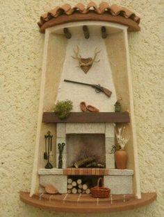 Set de cocina con motivo de caza