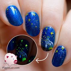 What if... Timon had it right? That stars really are fireflies that got stuck up in that big blue-ish black thing? I have a video tutorial for this great glow in the dark nail art design!
