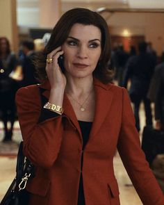 The Good Wife Season 5 Outfits, Explained by Costume Designer Daniel Lawson - Season 5, Episode 14: Akris Jacket and Cartier Watch from #InStyle
