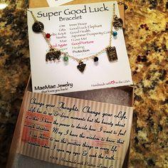 Yay my Super Good Luck bracelet arrived!  #MaeMaeJewelry. #LovingLife