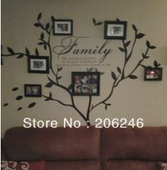 """Promotion FreeShipping""""Family Like  Branches On A Tree."""" English Quote/Saying Vinyl Wall Art  Decals/Window Stickers /Home Decor-in Wall Stickers from Home & Garden on Aliexpress.com $4.99"""