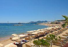 Croisette beach close to the Palais des Festivals et des Congrès in Cannes http://www.nyhabitat.com/blog/2012/08/20/48-hours-in-cannes-french-riviera/